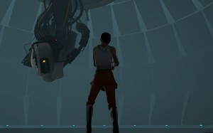 Chell_facing_GLaDOS_in_Central_AI_Chamber_Portal